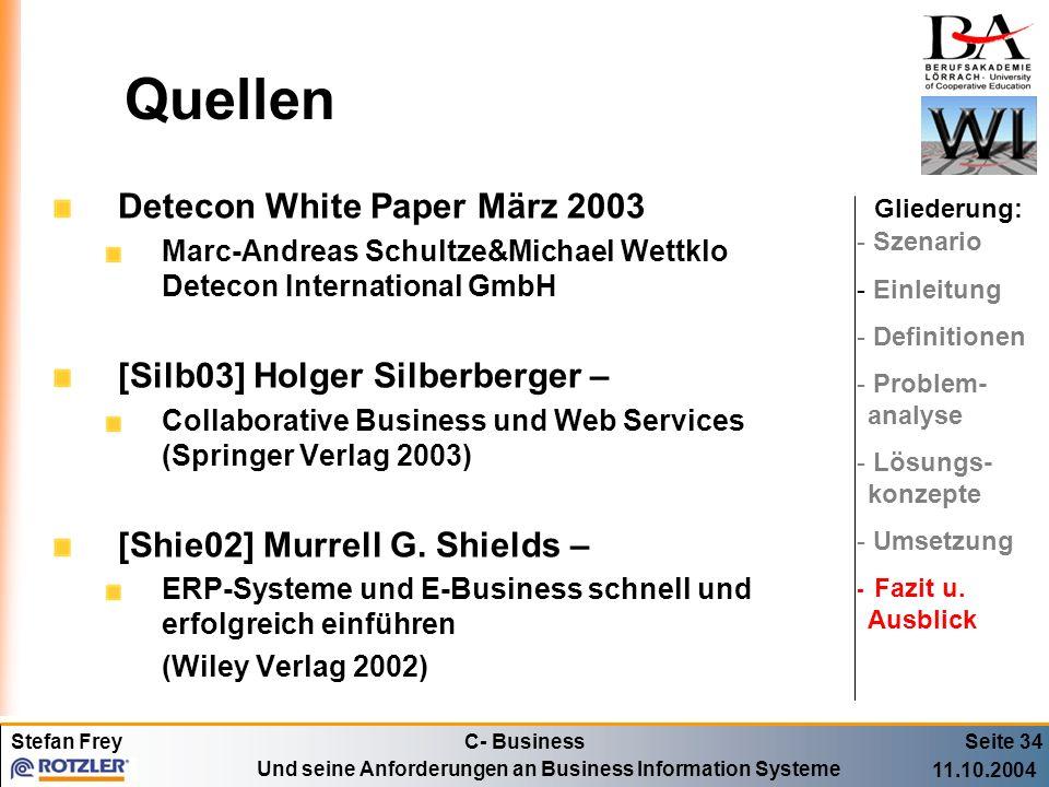Quellen Detecon White Paper März 2003 [Silb03] Holger Silberberger –